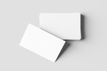 Business card mock up - 3d rendering