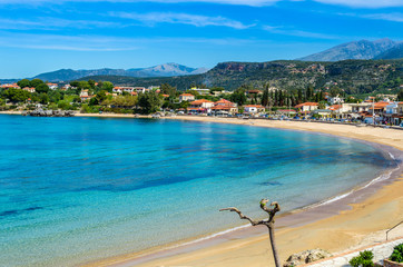 "Stoupa is a seaside village of Mani,located along two bays with sandy beaches.In the famous beach of Kalogria Nikos Kazantzakis was inspired and wrote the uniqe novel ""Life and Times of Alexis Zorbas"""