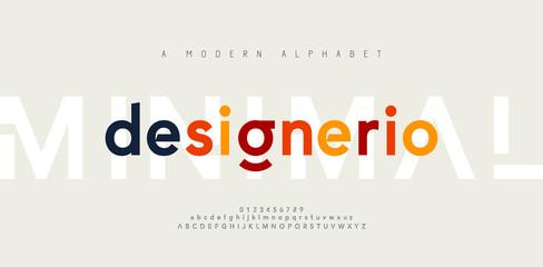 Abstract minimal modern alphabet fonts. Typography minimalist urban digital fashion future creative logo font. vector illustration