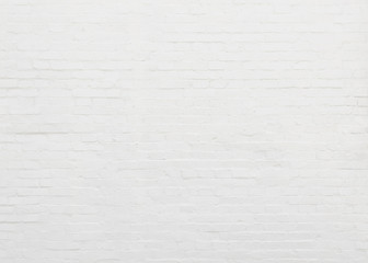 White painted brick wall texture, bright and clean background