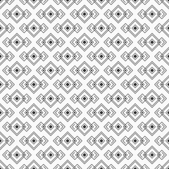 Abstract rhombuses seamless pattern. Repeating geometric tiles, ornament. Modern stylish texture. Interior design, digital paper, web, textile print, package. Vector monochrome background.
