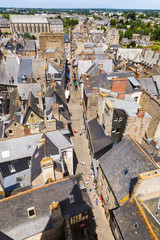 Dinan, France. Aerial view of the town