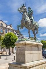 Dinan, France. Equestrian statue of Bertrand du Guesclin
