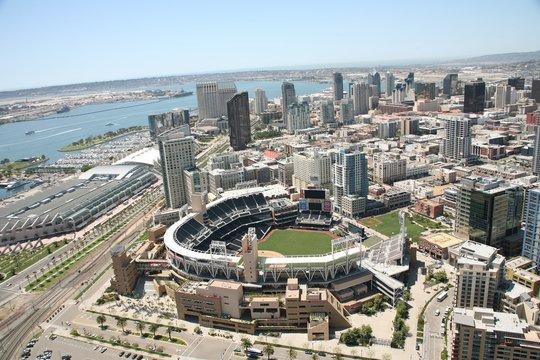 San Diego California - Padres, Petco Park Aerial