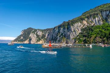 Landscape of Capri island, Italy.
