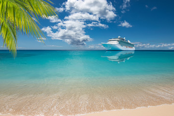 Wall Mural - Exotic luxurious cruise vacation travel.