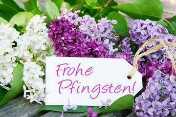 Frohe Pfingsten!, Pfingstgrüsse mit Flieder