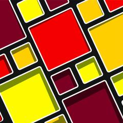 Colorful geometric modern Mondrian style background vector illustration