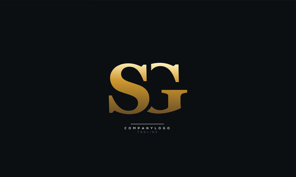 SG Letter Logo Design Icon Vector Symbol