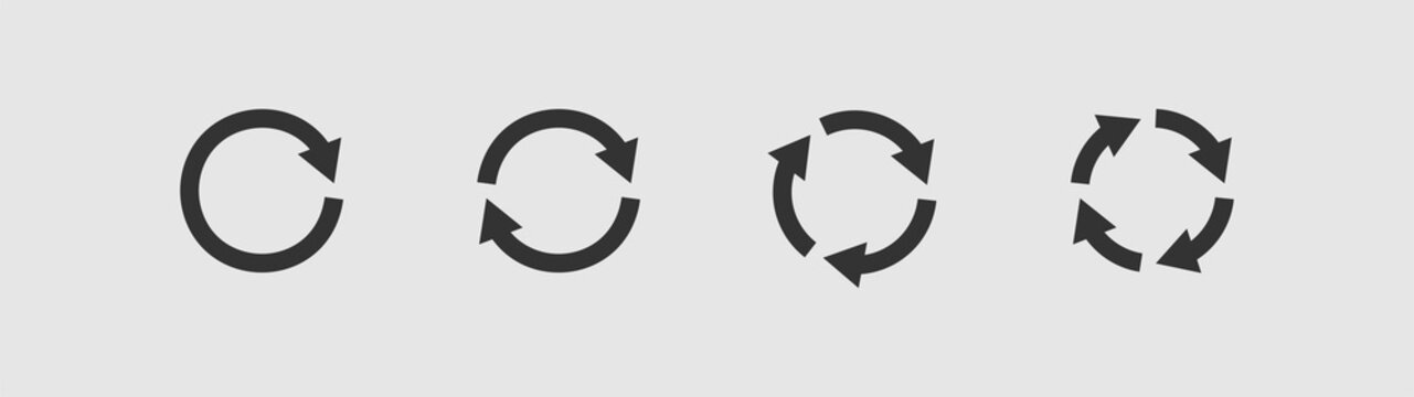 Set of circular arrows icons.