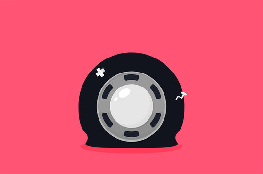 Car tire. Vector flat trendy illustration.