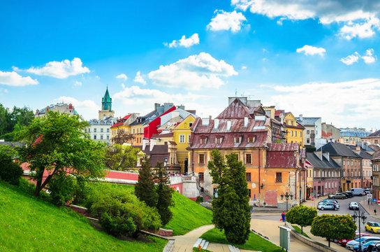 Beatiful panorama of city Lublin, Poland, Europe