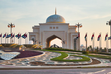 Canvas Prints Abu Dhabi Ministry of Presidential Affairs building