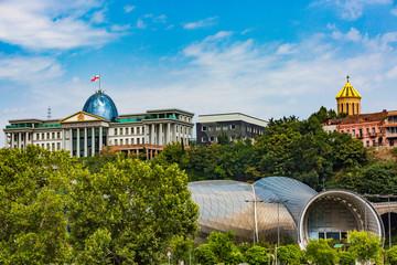 Presidential palace Rike concert hall Tbilisi Georgia Europe landmark Fototapete