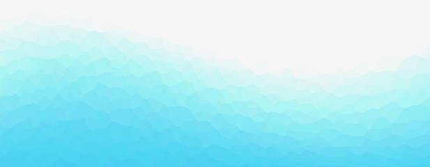 Foto auf AluDibond Pool Geometric light blue representing water, sea, beach, waves, ripples, etc. 水、海、ビーチ、波、波紋などを表現する幾何学的な青