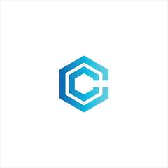 Vector Letter CC concept logo design template illustration eps 10