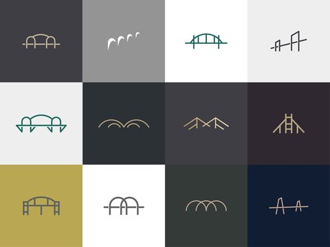 set of Bridge logo design