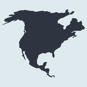 north america map logo icon. vector simple symbol in flat style