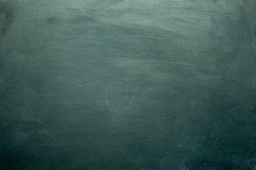 Green chalk board. Can be used as texture or wallpaper. Flat lay, top view Wall mural