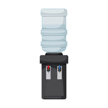 Water cooler vector icon.Cartoon vector icon isolated on white background water cooler.