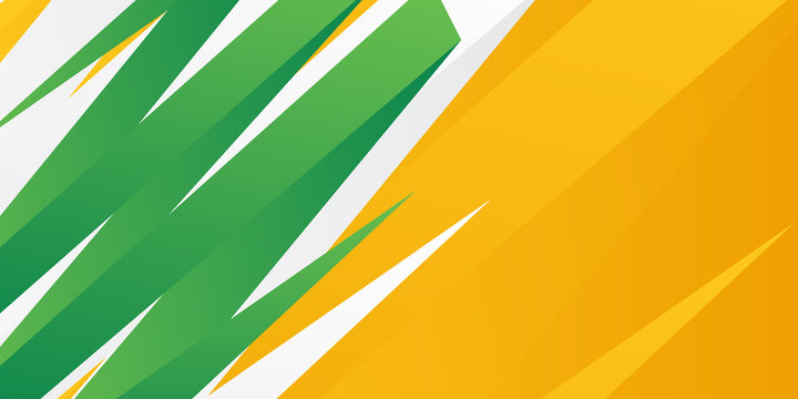 Green orange yellow abstract background suit for presentation design. Green orange banner template. Vector abstract background with green gradient waves, organic shapes, text.