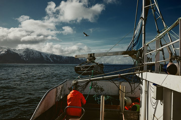 Fishing boat in the artic Fotomurales