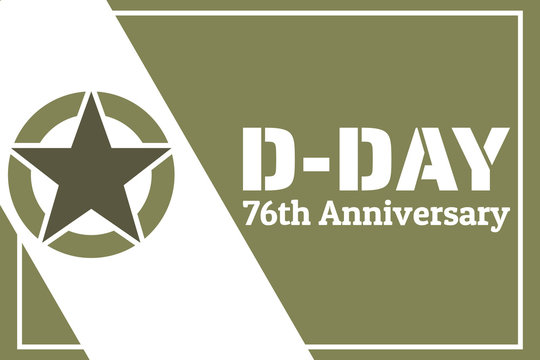 D-Day. Normandy landings concept. Template for background, banner, card, poster with text inscription. Vector EPS10 illustration.