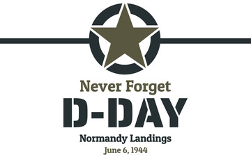 Fototapeta D-Day. Normandy landings concept. Template for background, banner, card, poster with text inscription. Vector EPS10 illustration. obraz
