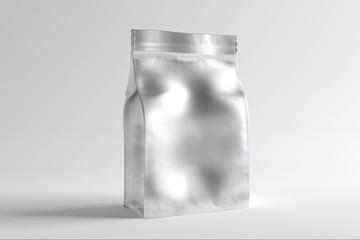 Sachet pouch foil mock up - 3d rendering