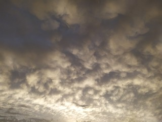 clouds time lapse Fotomurales
