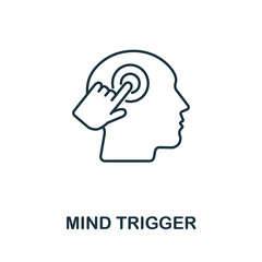 Mind Trigger icon from personality collection. Simple line Mind Trigger icon for templates, web design and infographics