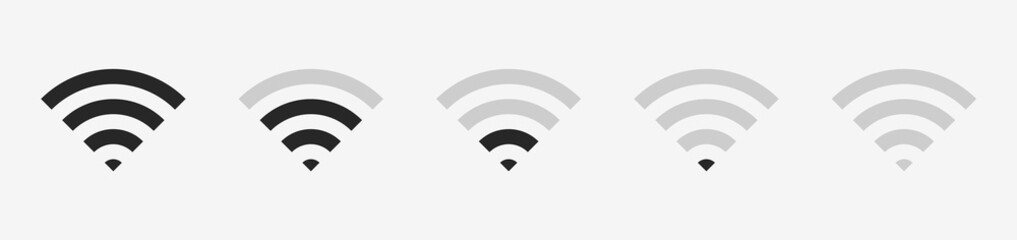Wi-fi wireless icon with visualization signal quality. Internet Connection wi-fi signal. Vector illustration EPS10