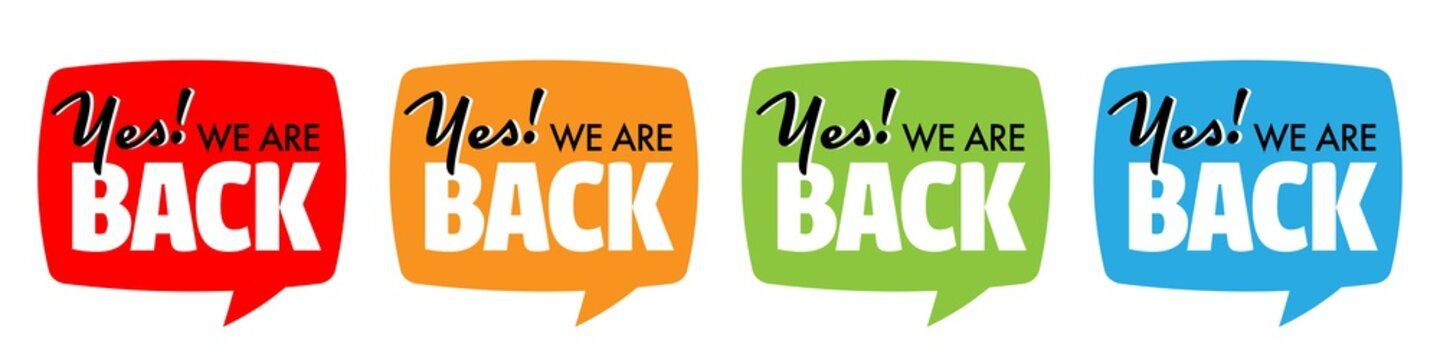 Yes we are back