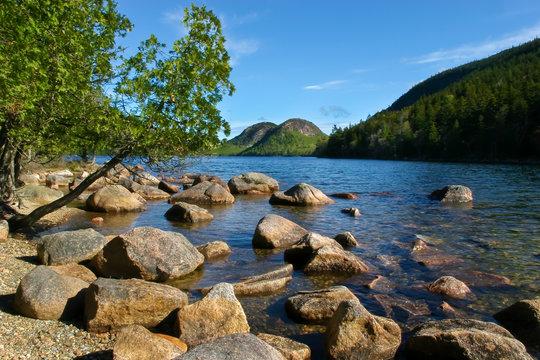 The Bubbles and Jordon Pond, Acadia National Park, Maine, USA