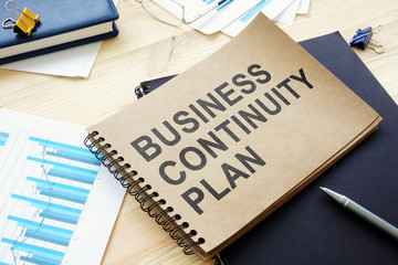 BCP Business continuity plan is on the table.