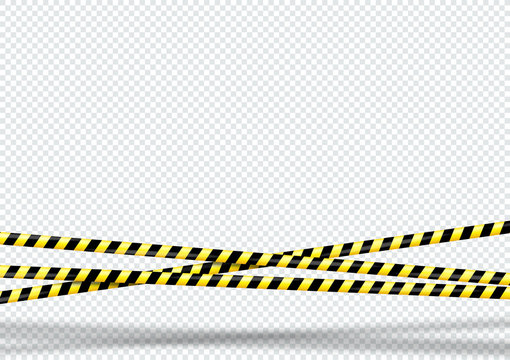 3d Black and Yellow Striped Warning Tape Background