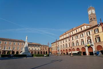 Fototapete - Historic square of Forli, Emilia Romagna