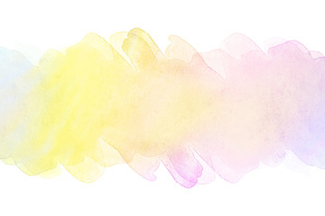 Watercolor stain on a white background. light purple strip