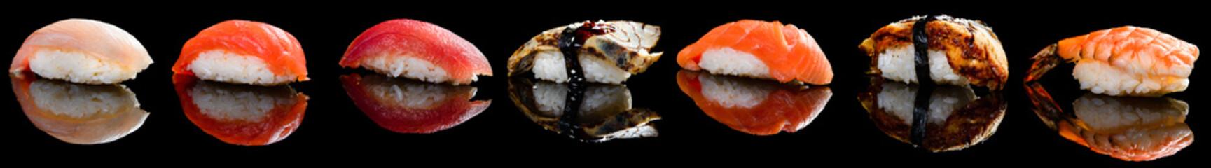 sushi nigiri collection set Fototapete