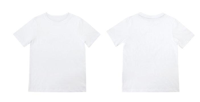 White t shirt isolated on white background