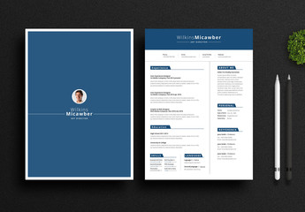 Clean Resume and Cover Letter Layout