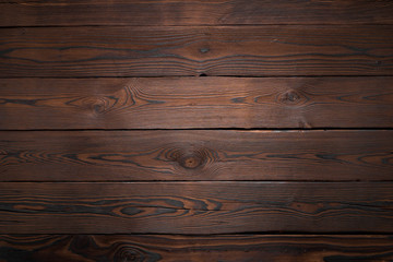Rustic Planks of dark old wood texture background