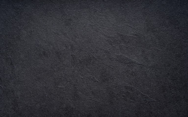 Fototapete - Black wall slate texture rough background, dark concrete floor or old grunge background