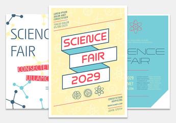 School Science Fair Flyer Set