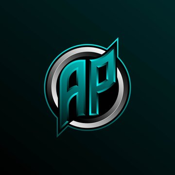 Initial AP logo design, Initial AP logo design with Circle style, Logo for game, esport, community or business.