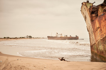 Photo sur Plexiglas Naufrage Angola Shipwrecks