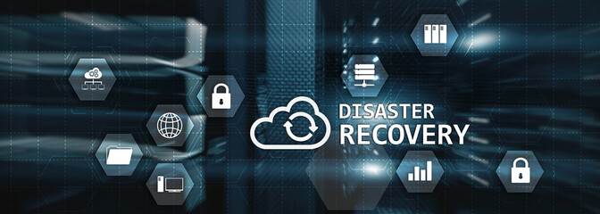 Disaster Recovery Plan for your corporation. Cyber Security concept 2020. Wall mural