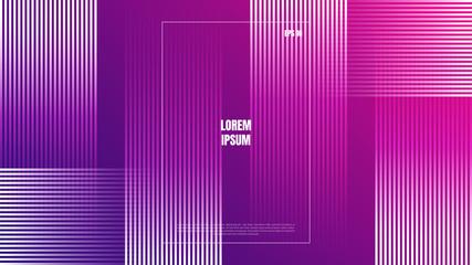 Photo sur Aluminium Art abstrait Abstract colorful minimal geometric line background. Trendy gradient shapes composition. Modern vector design template.