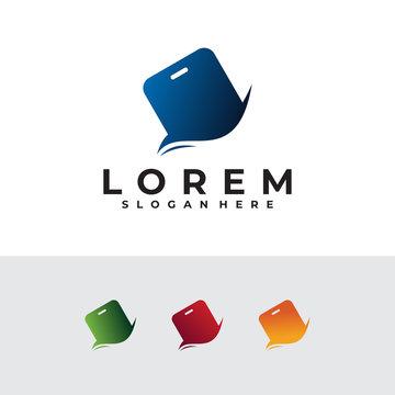 phone logo icon vector desain