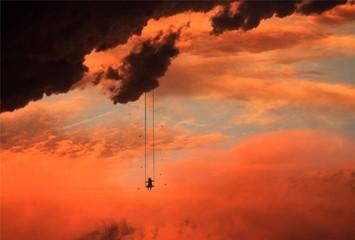 Obraz Low Angle View Of Silhouette Trees Against Orange Sky - fototapety do salonu